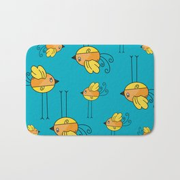 Teal Designer Bird Bath Mat