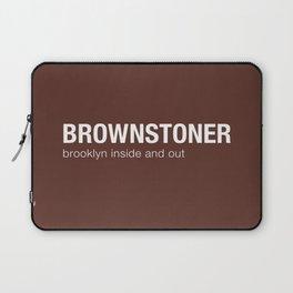 Brownstoner Logo - Dark Laptop Sleeve