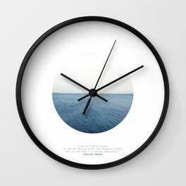 Life is like an ocean. It can be calm or still and rough or rigid. Wall Clock