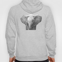 Black and White Baby Elephant Hoody