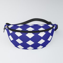 rhombus and tartan 6–  blue and white Fanny Pack