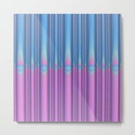 Blue Flame, Pink Flame Metal Print