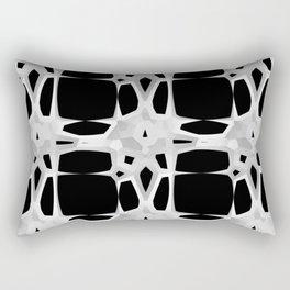 Mid Century 1960s Modern Retro Stars Black White Rectangular Pillow