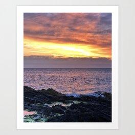 Seacape sunset Art Print