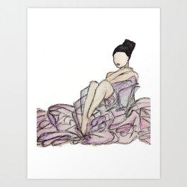 Glamorous Woman Art Print