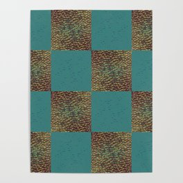 blue and brown pattern Poster