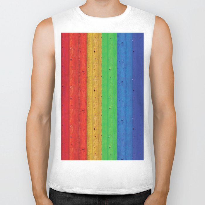 Colours Of The Rainbow Biker Tank