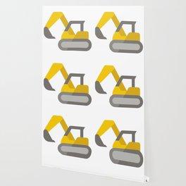 Yellow Excavator Icon Emoji Wallpaper