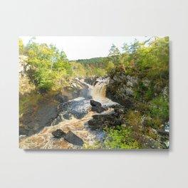 Rogie Falls at Blackwater River, Scotland Metal Print