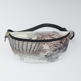 Cat Young Kitten Ball Of Fanny Pack