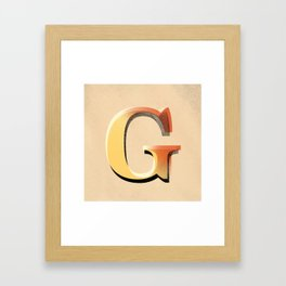 Many good words start with a G Framed Art Print