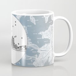 Sydney, New South Wales, Australia City Skyline Illustration Drawing Coffee Mug