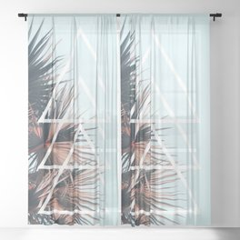 Triangle Tropical Left Sheer Curtain