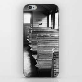 Old train compartment - Altes Zugabteil iPhone Skin