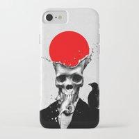skull iPhone & iPod Cases featuring SPLASH SKULL by Ali GULEC