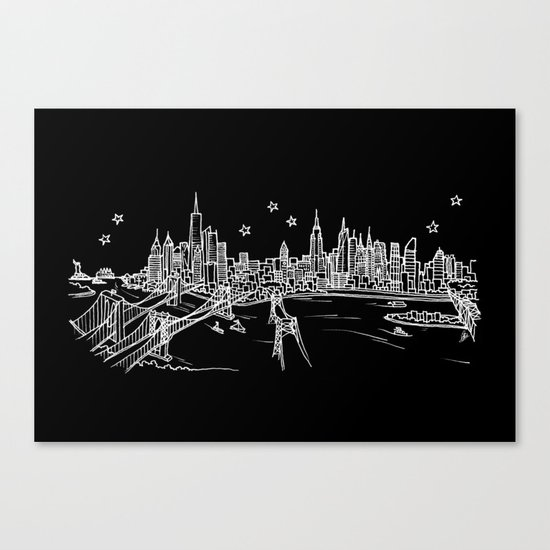 New York, New York City Skyline Canvas Print