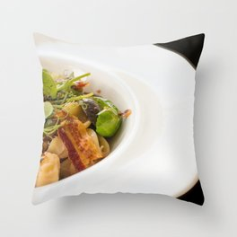 The Art of Food Bacon Sideways Throw Pillow