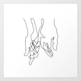 Finger Swear Art Print