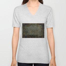Binary Code - Distressed textured version Unisex V-Neck