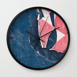 Peeling Paint In The Desert Heat Wall Clock