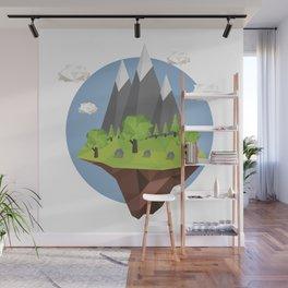 Mountains World Wall Mural