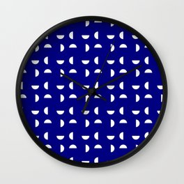 Wild polka dot 36- dark blue Wall Clock