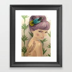 Paradise Bird Framed Art Print