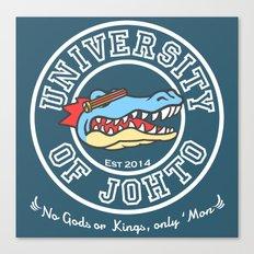 University of Johto - White Outlines! Canvas Print