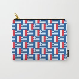 Mix of flag: France and greece Carry-All Pouch