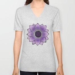 Purple Lotus Unisex V-Neck