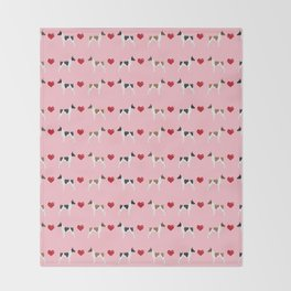 Rat Terrier love hearts dog breed pet art dog pattern gifts unique pure breed Throw Blanket