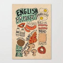 English Breakfast Canvas Print