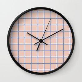 MINIMAL GRID PINK Wall Clock