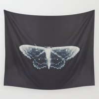 butterfly Wall Tapestries featuring butterfly by Ingrid Beddoes