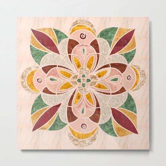 Brown Mandala 04 Metal Print