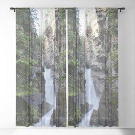 Banff Falls  Sheer Curtain