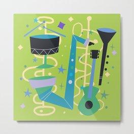 Midcentury Modern Fifties Jazz Composition Metal Print