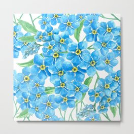 Forget me not seamless pattern   Metal Print