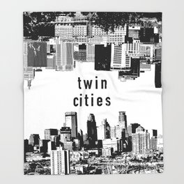 Twin Cities Minneapolis and Saint Paul Minnesota Throw Blanket