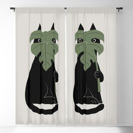 Cat and Plant 14: Monster-a Blackout Curtain