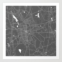 Brockton USA Modern Map Art Print Art Print