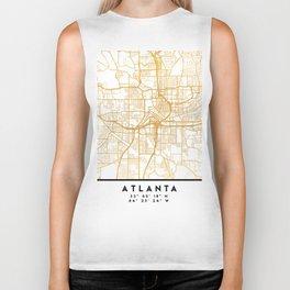 ATLANTA GEORGIA CITY STREET MAP ART Biker Tank
