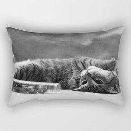 Kitty is Less Than Three Dice Rectangular Pillow