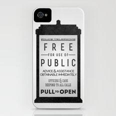 PULL to OPEN (TARDIS) Slim Case iPhone (4, 4s)