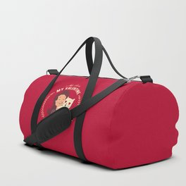 My Cat Is My Valentine Duffle Bag