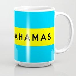 bahamas country flag name text Coffee Mug