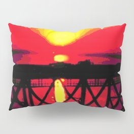 Sunset On The Bay Bridge Pillow Sham