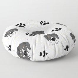 Mantle Great Dane Paw Print Pattern Floor Pillow