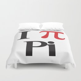 I Heart Pi Duvet Cover