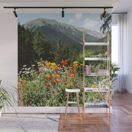 Mountain garden Wall Mural